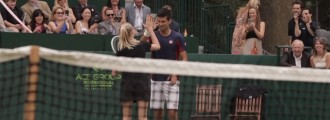 Djokovic Makes a Great Ball Girl! Has He Found His New Career? We think so.