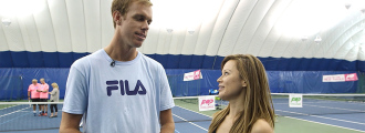 Sam Querrey vs Mayleen Ramey Air Tennis Babolat Pop Challenge