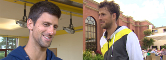 Novak Djokovic and Robin Haase Joke About Getting Mistaken For Someone Else