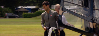 Novak Djokovic Always Arrives in Style