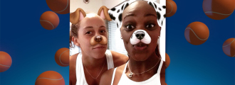 Snapchatting with Team USA Olympians Sloane Stephens and Madison Keys