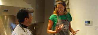 Garbiñe Muguruza Cooks Up Her Favorite Pre-Match Meal at Taste of Tennis Master Class