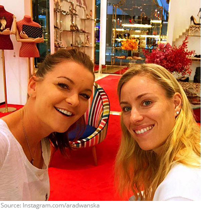 radwanska-kerber-shopping