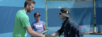 Juan Martín del Potro and Angelica Get Coaching Tips from Crazy Coach Randy