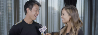 Kei Nishikori & Michael Chang Showoff Their Friendly Rivalry