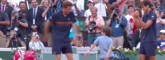 Nicolas Mahut & Son Steal Hearts With Celebration