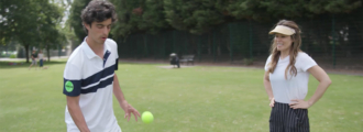 Stef Bojic Serves Trick Shot Challenge to Mayleen Ramey and Tennis Fans